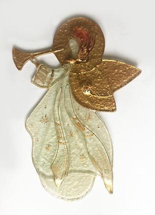 Стеклянное панно ангел