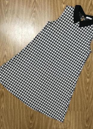 Классическое платье с воротником сарафан трапеция туника