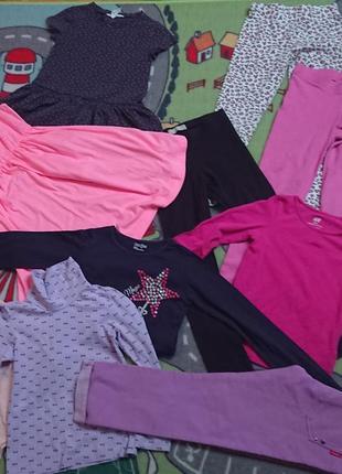 Большой брендовый пакет (17шт)одежды на 5/6 лет на девочку