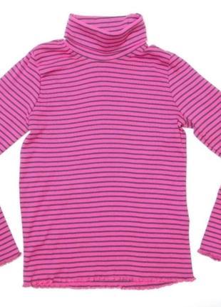 Розовый гольф в полоску для девочки lupilu