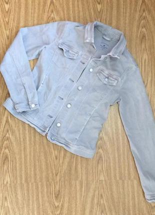 Tom tailor серый джинсовый пиджак жакет куртка