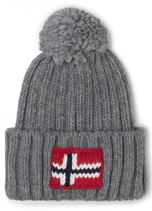 Оригинальная шапка napapijri semiury 2 medium grey