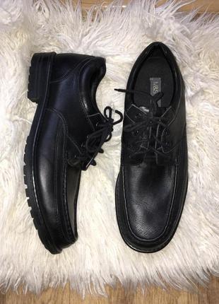 Натур. кожаные туфли ботинки 44