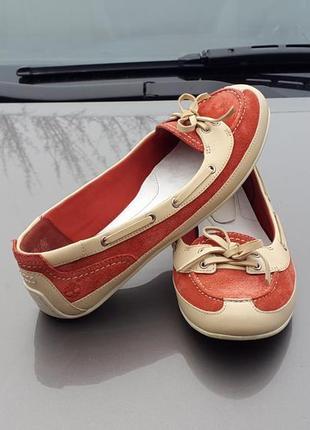 39 р. кожаные балетки туфли мокасины timberland оригинал