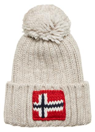Оригинальная зимняя шапка napapijri semiury 2 natural