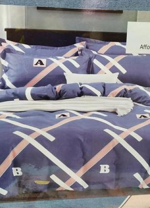 """Двухспальный комплект постельного белья из фланели""""classic"""""""