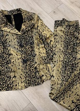 Костюм леопардовый штаны и пиджак
