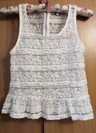 Красивая блуза-кофточка-майка бренда tally weijl, размер с, 160/80/а