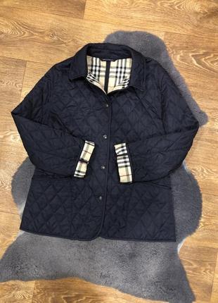 Женская елитная стёганная куртка жакет ветровка burberry