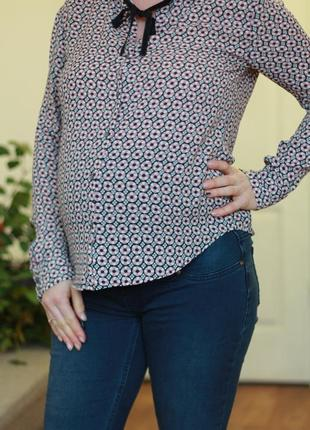 Блуза рубашка с галстуком для беременных