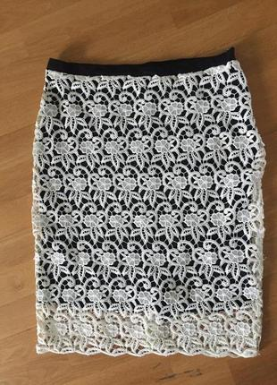 Кружевная юбка миди asos