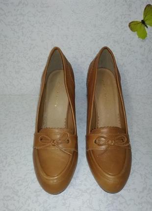 Кожаные туфли mint&berry (минт энд берри)  38р. на узкую ногу4 фото