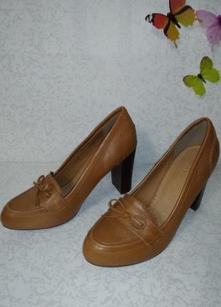 Кожаные туфли mint&berry (минт энд берри)  38р. на узкую ногу