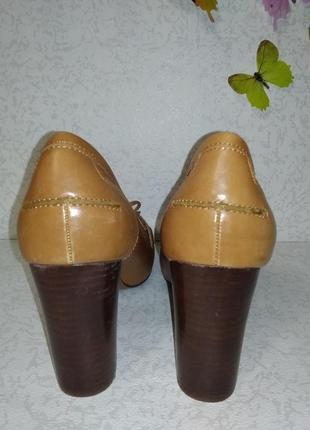 Кожаные туфли mint&berry (минт энд берри)  38р. на узкую ногу5 фото