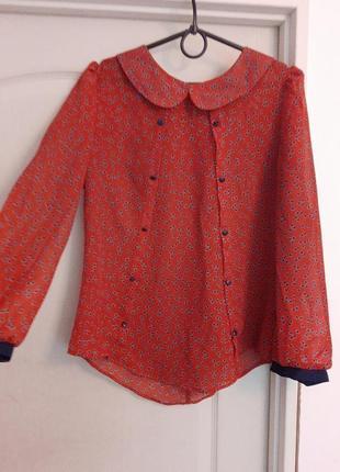 Легкая блузка с принтом atmosphere