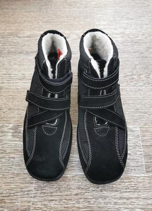 Тёплые брендовые ботинки, замш+шерсть rieker