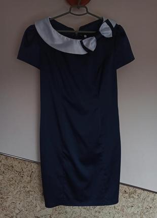 Класичне атласне сатинове плаття міді