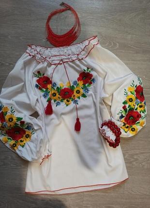 Вышиванка вишиванка квіти размер 52_54