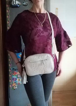 Новая сумка кросс-боди из натуральной кожи.