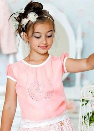 Тм моне праздничная коллекция. футболка для девочки.