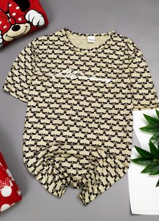 Милая пижамка-футболка с mickey mouse disney пижама