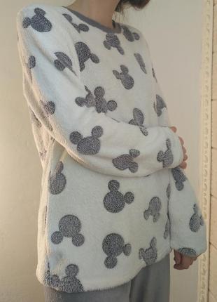 Мягкая теплая махровая пижама микки маус плюшевая дисней