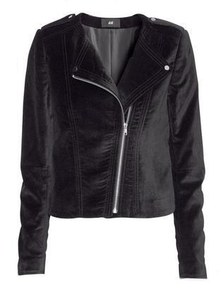 Велюровая бархатная куртка косуха пиджак