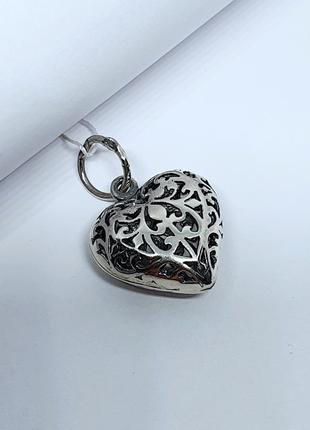 """Серебряная подвеска """"ажурное сердце """" 925 проба"""