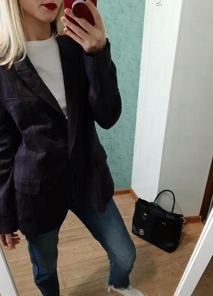 Шикарный удлинённый шерстяной пиджак, жакет от zara