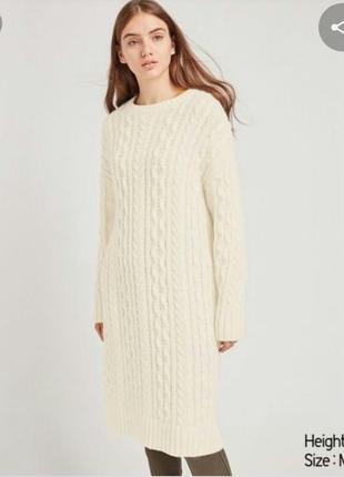 Вязаное платье uniqlo