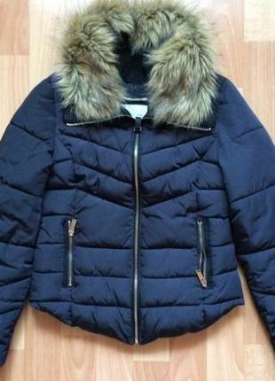 Куртка мех парка дутая пуховик пальто