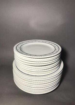 Винтажный набор тарелок 20 штук винтаж