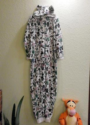 Кигуруми теплый слип пижама женская s, uk10-12