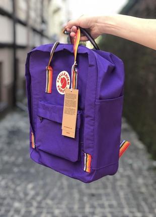 Kanken канкен рюкзак fjallraven kanken art 16l топ качество фиолетовый