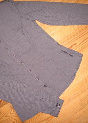Классическая блузка/блуза / рубашка calvin klein клетка как новая.оригинал.