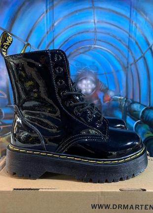 Распродажа! ботинки dr.martens jadon  с лакированной кожей/осень/зима/весна😍