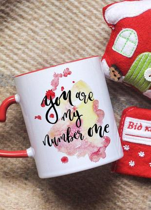 Чашка для любимого человека you are my number one