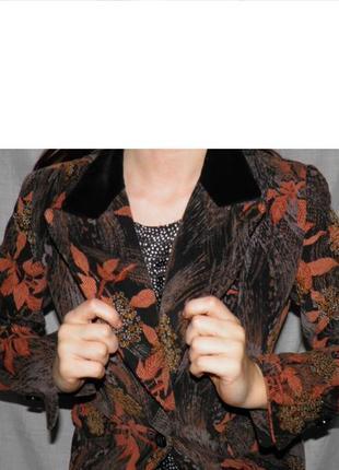 Anthony charles пиджак англия винтаж стиль 60-х ретро бренд вельвет листья классика коттон