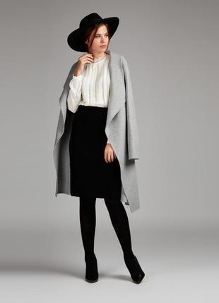 Стильная вязаная юбка на запах laura ashley оригинал шерсть альпаки кашемир