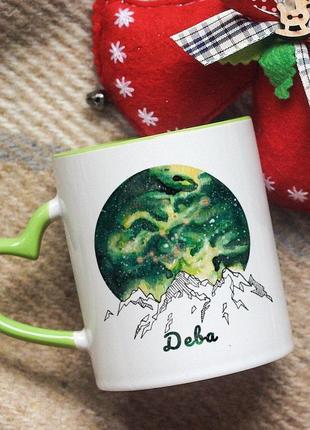 Чашка со знаком зодиака дева