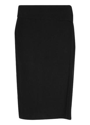 Laura ashley эксклюзивная авангардная шерстяная юбка на запах карандаш интересного фасона