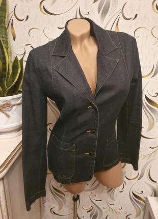 Джинсовая куртка пиджак жакет h&m m/38