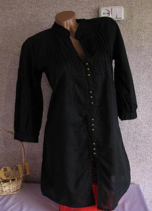 Лёгкая натуральная хлопковая блуза only eur 38
