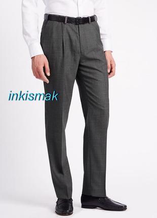 Шерсть брюки m&s 32 in /31 англия