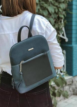 Рюкзак david jones 6109-2t сине-зеленый