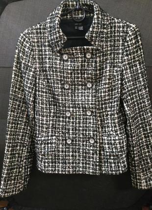 Классический двубортный твидовый пиджак