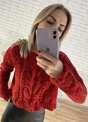 Велюровый свитер5 фото