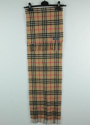 Шикарный оригинальный шарф burberry vintage wool&cashmere scarf