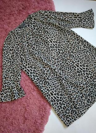 Тёплое леопардовое платье трапеция