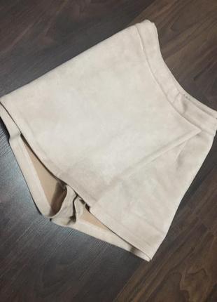 Юбка-шорты под замшу от missguided